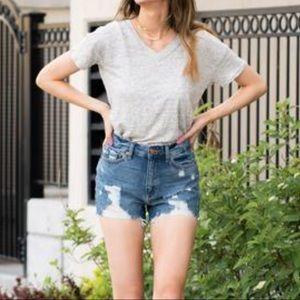 Just USA High Rise Distressed Cutoff Shorts - NWOT